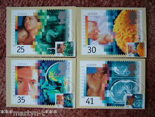 PHQ Cards FDI Front No 165 Medical Discoveries, 1994. 4 card set. Mint Condition