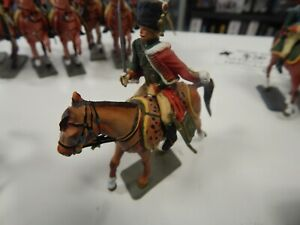 plastic French HUSSAR Officer Napoleonic Cavalry by Starlux made in France