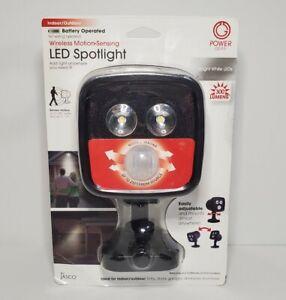 Power Gear Wireless Motion-Sensing LED Spotlight - Battery Operated - 300 Lumens