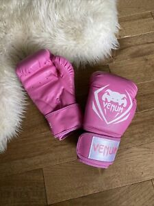 VENUM BOXING GLOVES PINK 8 OZ EXERCISE WORKOUT MMA TRAINING BOXER