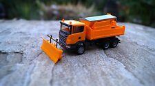 Herpa  Scania R `09 Winterdienstfahrzeug  mit Schild und Streuaufbau 1:87