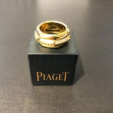 Piaget 18ct Yellow Gold Hexagonal Ring with Alternate Diamond Segments