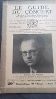 Revista Le Guía de La Concierto Y Las Sketches Letra 1931 N º 19 W. Backhaus