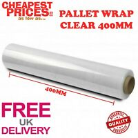 1 X STRONG ROLLS CLEAR PALLET STRETCH SHRINK WRAP CLING FILM 400MM x 100M