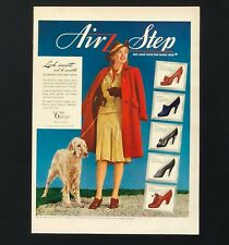 1941 Air Step Shoes Advertisement English Setter Dog Look Smart Vtg Print Ad