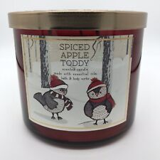 BATH & BODY WORKS SPICED APPLE TODDY 3 WICK 14.5 oz CANDLE NEW FREE SHIP