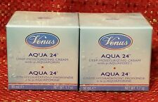 2 Venus Aqua 24 Deep Moisturizing Cream With p-AQUAPORIN 1.7 OZ/EACH