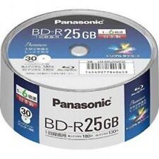 30 Panasonic Bluray BD-R 25GB 6X Speed Printable Blu ray Original Spindle F/S