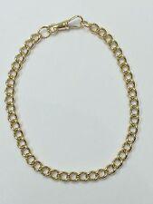 """9 carats (9ct) Or Albert Bracelet - Or Jaune Résistant - 8"""" Long - 8,55 g"""