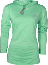 More Mile Womens Training Hoody Green Soft Warm Fleece Lined Gym Workout Hoodie