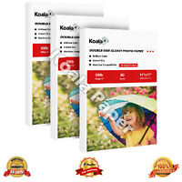 Koala 100 Sheets 11x17 Double Sided Glossy Photo Paper Inkjet 160gsm 42lbs Canon