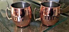 Moscow Mule Mr. and Mrs. Copper Finish Mugs Mug Set 20oz Wedding Gift NWOT
