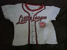 Vintage 60s Little League Baseball T-shirt Childs  Cotton chest 28 Licensed