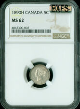 1890-H CANADA 5 CENTS NGC MAC MS-62 EXFSEXCEPTIONAL FIRST STRIKE  *