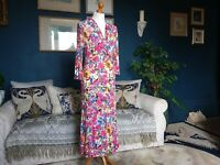 STUNNING LADIES COTSWOLD COLLECTION FLORAL BLOOMS DRESS S 10 12 ART WATERCOLOUR