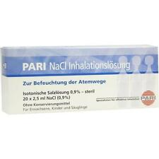PARI NaCl Inhalationslösung Ampullen 20X2.5 ml PZN: 3109789