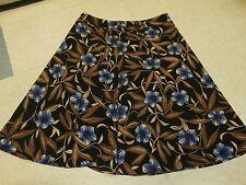 SAG HARBOR/ Women SIZE 16 BLACK BROWN BLUE FLORAL