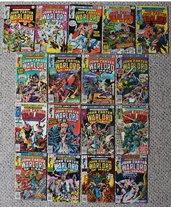 JOHN CARTER, WARLORD OF MARS (1977-1979; Marvel Comics; Burroughs) #1-17 FNVF