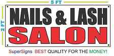 NAILS & LASH SALON Banner Sign NEW Larger Size 2X5 Eyelashes