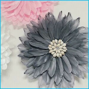 Creative Feather Flower Wall Decorations Conch Wall Hanging For Kids Room Decor