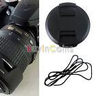 52mm Lens Cap Cover 18-55mm 55-200mm W/ Cord For Nikon DSLR Lens Filter