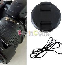 52mm Lens Cap Cover 18-55mm 55-200mm W/ Cord For Nikon DSLR Lens Filter New DF