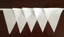 White Fabric Bunting Wedding Birthday Christening Party Decoration 2 mt or more