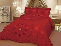 Red Wedding Bedding Oversize Comforter Bedspread Quilts Set Queen or King