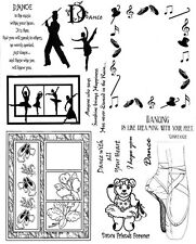 Unmounted Rubber Stamps Sheets, Dance Stamps, Ballet, Dance Quotes & Sayings