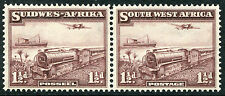 SOUTH WEST AFRICA # 110 VF Light Hinged Strip of 2 Issues - MAIL TRAIN - S6010