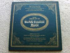 WORLD'S GREATEST MUSIC, ALBUM NO.1,  LP + 2 BOOKS, 4 INSERTS; EXCELLENT