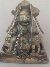 Antique Chinese silver Figure / cover / amulet/ statue (m499)