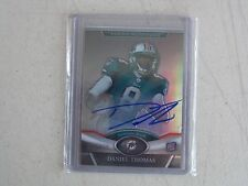 2011 TOPPS PLATINUM FOOTBALL DANIEL THOMAS AUTO ROOKIE CARD # 46/250