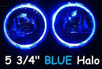 "1pr 5 3/4"" Semi Sealed Headlights Blue Halo Holden HX HZ HJ HG HQ HT"