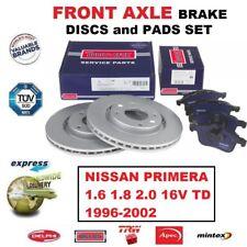 Für Nissan Primera 1.6 1.8 2.0 16V Td 1996-2002 Vorderachse Bremsbeläge +