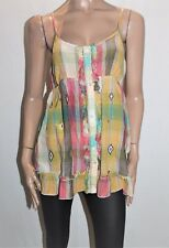 PIPING HOT Brand Multi Check Cami Top Size 14 BNWT #TH53