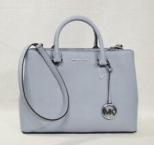 6a3235c81a7f Michael Kors Savannah Large Satchel Shoulder Bag in Pale Blue Saffiano  Leather