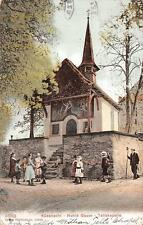 KUSSNACHT HOHLE GASSE TELLSKAPELLE CHURCH SWITZERLAND TO USA POSTCARD 1907