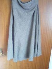 Brown tweed flared skirt