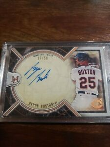 2018 topps museum collection Byron Buxton Autogrqph /50