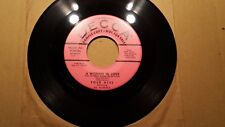 """THE FOUR ACES - DECCA Sample/Promo/Demo A WOMAN IN LOVE / OF THIS I'M SURE 7"""""""