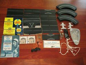 Vintage Aurora Thunderjet TJet HO Slot Car Track 1963 Curve Straight Turnoff Pin