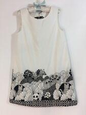 Gymboree Black & White Sleeveless Cotton Shift Animal Print Dress Sz 5 Summer