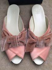 TRADEMARK Madeleine Pajama Slide Shoe Velvet Bow Peach NIB 40/10