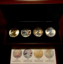 The 2004 Ultimate Silver Eagle Collection w/ C.O.A. & Wood Case