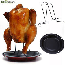 Upright Chicken Roaster Rack Non-stick Barbecue Grilling BBQ Accessories New