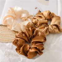 Women Satin Silk Hair Tie Elastic Scrunchies Ponytail Holder Hair Rope Rings New