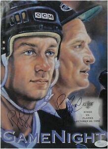 Rob Blake Larry Robinson Hand Signed Kings Game NIght Program 1996 JSA V53597