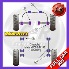 Daewoo Matiz M100 & M150 (98-08) Powerflex Complete Bush Kit