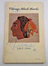 1965-66 Chicago Black Hawks Press Guide Signed by 3 inc. Pierre Pilote Jsa/Psa